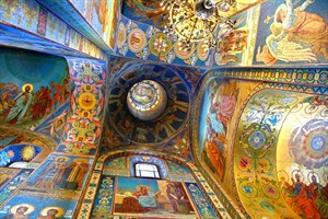 Interior of the Church of the Savior on Spilled Blood, St. Petersburg
