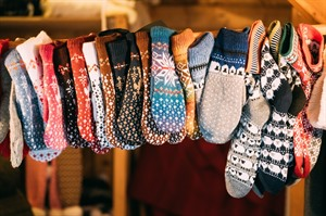 Cosy handknitted socks - ideal Estonian souvenirs