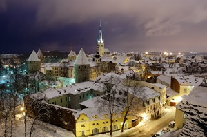 Snowy vistas from one of Tallinn's view points