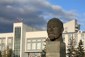 Monument to Vladimir Lenin in Ulan Ude