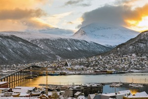 Aerial view of Tromso city