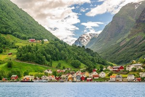 Beautiful fishing village in Norway