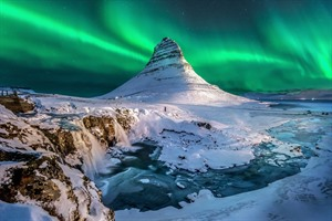 Mt. Kirkjufell and Northern Lights, Iceland