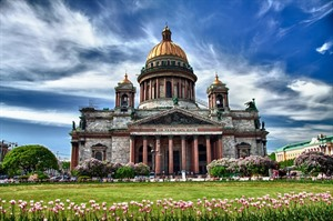 Saint Isaac cathedral in St Petersburg