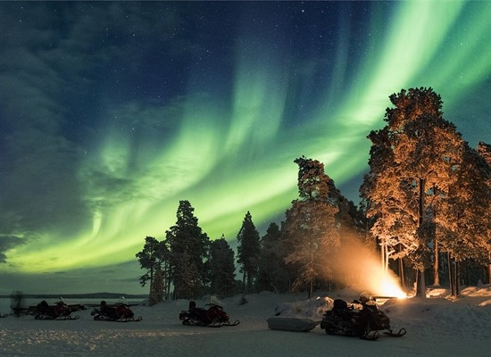 Northern Lights at the Inari Wilderness Hotel